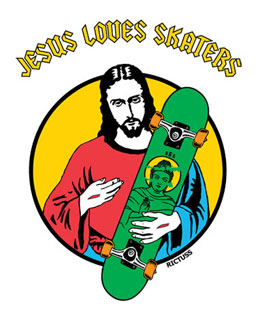 Jesús Loves skaters