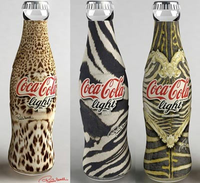 Botellas de Coca cola con diseo de animales