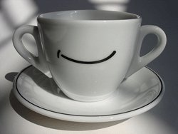 Taza de desayuno sonriente