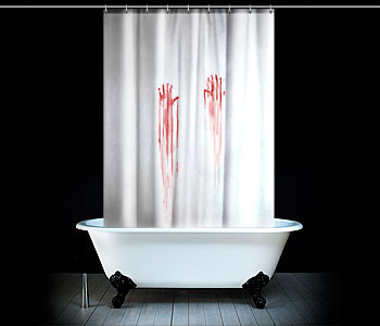 Blood Bath Shower Curtain: cortina sangrienta para Halloween