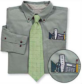 Engineer Topper Dress Shirt & Tie Set