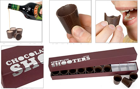 Chocolate Shooters, chupitos de chocolate
