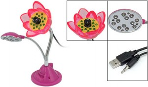 Flor webcam con luz