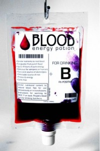 Blood Energy Potion, bebida energética peculiar