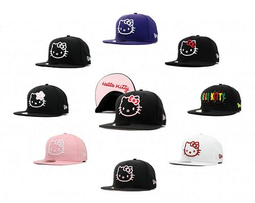 Estas gorras de Hello Kitty New era son estupendas para disfrutar con