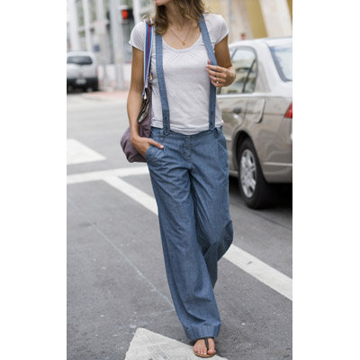 Pantalon con tirantes para mujer