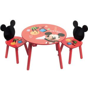 Mesa y sillas de Mickey Mouse
