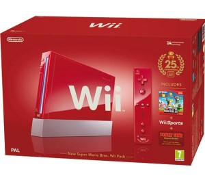Nintendo Wii en rojo 25 aniversario