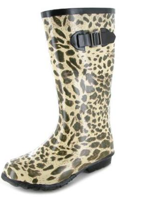 Atractivas botas de agua diseo leopardo