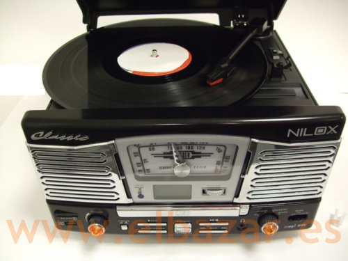 Tocadiscos estilo retro con grabacin a MP3