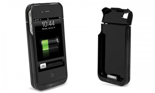 Mini cargador funda Mili para el iPhone 4