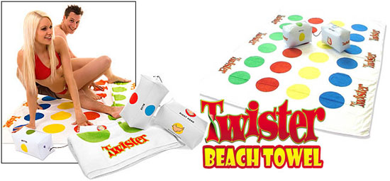 Toalla playera de Twister