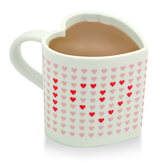 San Valentn: Taza trmica de corazones
