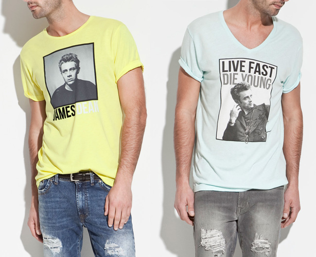 Camisetas de James Dean en Zara