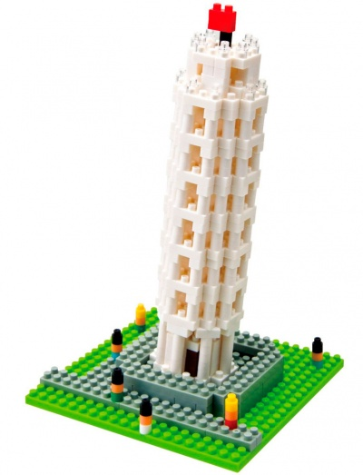 La Torre Pisa por Nanoblock