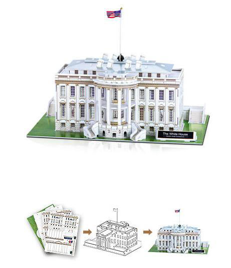 Puzzle de la Casa Blanca en 3D