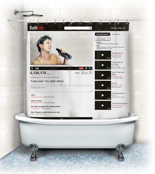 Cortina de baño de You Tube