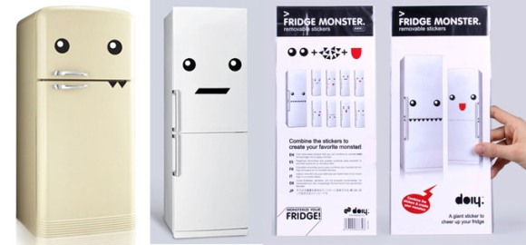 Arma la cara de tu nevera con los vinilos Fridge Monster