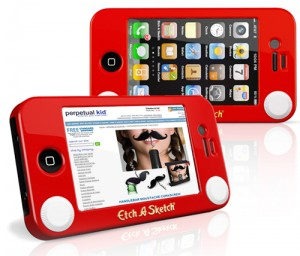 "Funda ""Etch-a-sketch"" para el iPhone"