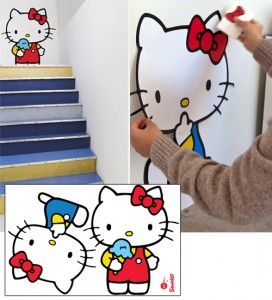 Vinilos de pared de Hello Kitty