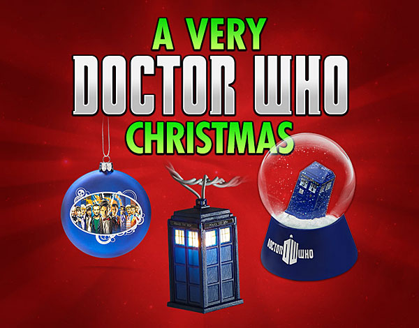 Un set navideño de Doctor Who