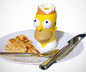 Recipiente para huevos de Homero Simpson