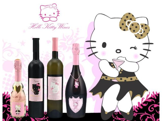 El vino de Hello Kitty transforma el alcohol en adorable