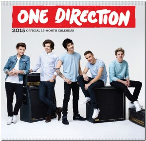 Calendarios 2015 de Justin Bieber y One Direction