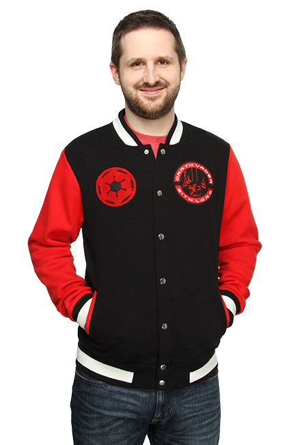 Campera estilo universitaria del Lord Sith