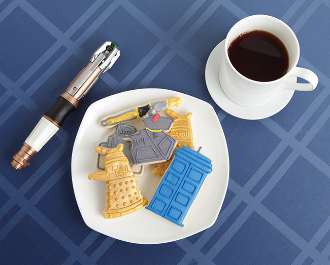 Cortantes para galletas de Doctor Who
