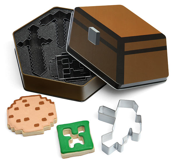 Prepara divertidas galletas con estos cortantes de Minecraft
